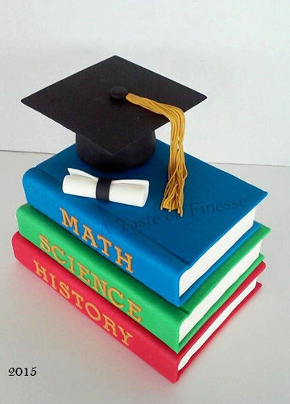 fondant graduation cap