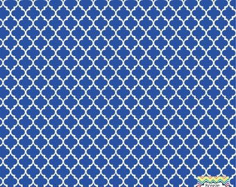 Blue and white quatrefoil craft  vinyl sheet - HTV or Adhesive Vinyl -  quarterfoil pattern   HTV1405