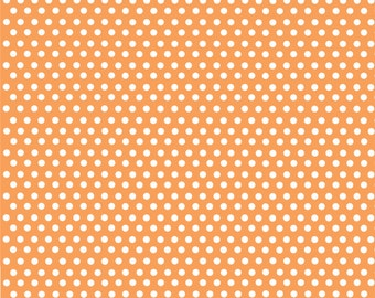 Peach with white mini polka dots craft  vinyl sheet - HTV or Adhesive Vinyl -  polka dot pattern HTV2306