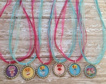 Lalaloopsy Inspired party favor necklaces.. Lalaloopsy inspired necklaces..party favors..necklace party favors.. Lalaloopsy party