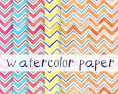 Watercolor Paper Chevron Image Pack Clip Art Background Border Template Letter Size High Resolution Images Pastels Paper Pack Watercolor