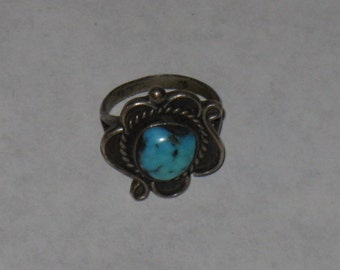 Sterling silver ring turquoise stone