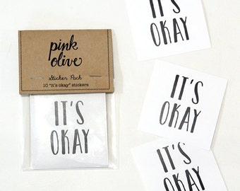 it's okay sticker set