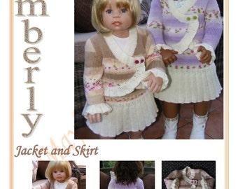 Kimberly Jacket and skirt Knitting pattern