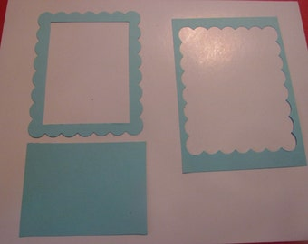 square scallop frame die cuts
