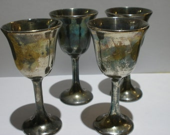 Italian Silver Plated Cordial Set