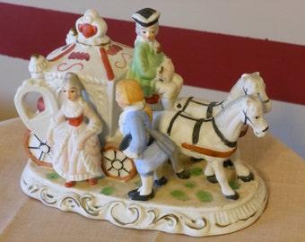 Cinderella, Her Coach, Driver and Footman Figurine