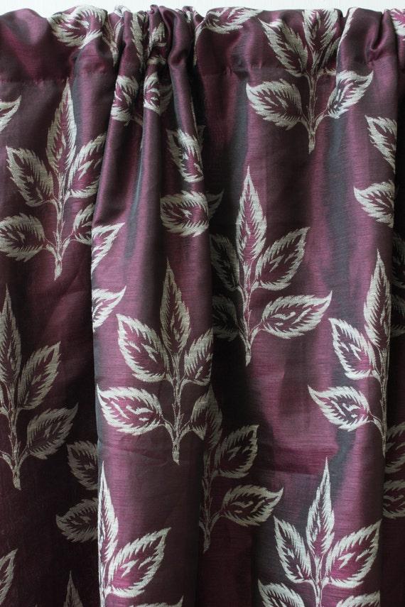 "Items similar to Silk Linen Curtain Panel 50"" Burgundy"