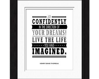 Henry David Thoreau Quote - Go Confidently