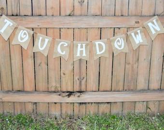 Burlap 'Touchdown' Banner