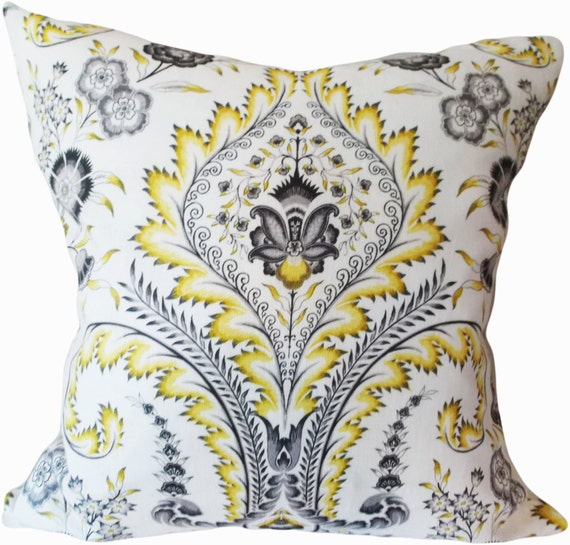 Waverly Damask Decorative Pillow Cover Williamsburg Throw