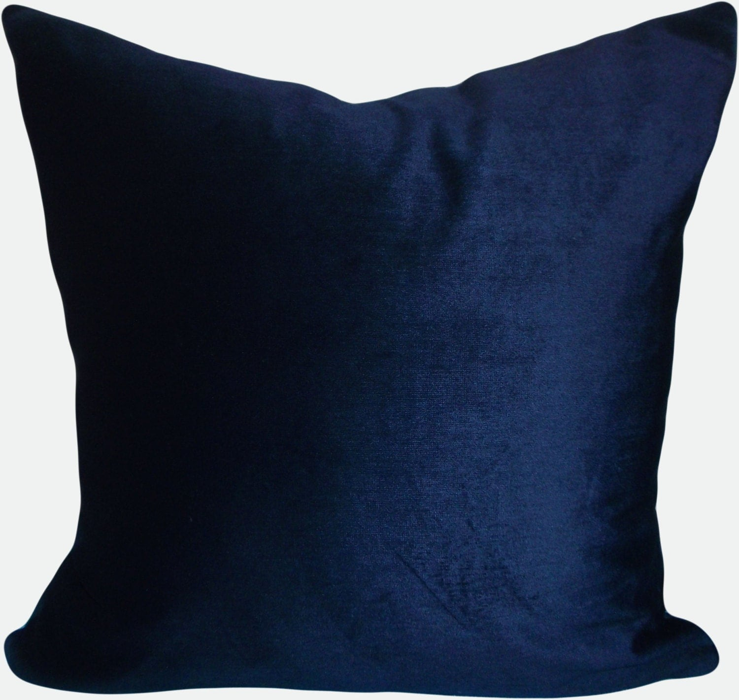 Navy Blue Velvet Pillow Cover Throw Pillow by PillowTimeGirls