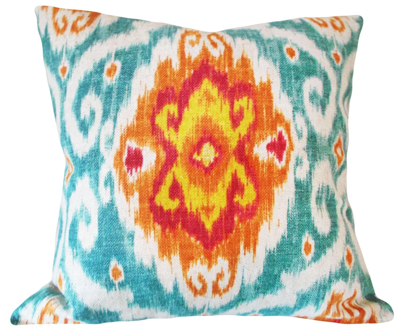 Ikat Throw Pillow Covers : Iman Ikat Medallion Decorative Pillow Cover Throw Pillow