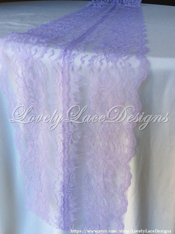 5ft 10ft lavender lace table runner wedding by for 10 foot table runner