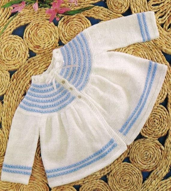 Baby Matinee Coat Knitting Patterns : Baby matinee coat vintage knitting pattern pdf instant