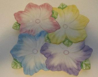 Floral colored platter 1992