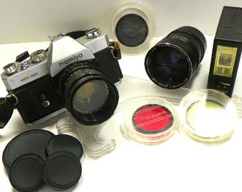 Vintage Mamiya MSX 1000 Camera Plus Lenses Filters Deluxe Case