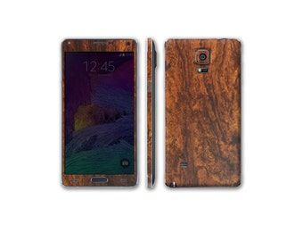 Samsung Galaxy Note 4 Full Body Wrap DECAL Sticker Skin Kit Wood Series by Stickerboy-Set 4