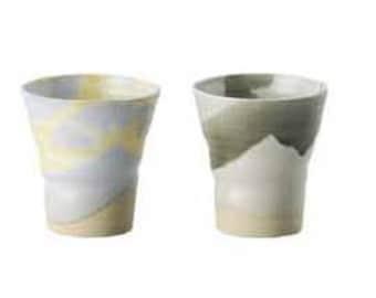 Two handmade, hand glazed Pottery Cups