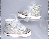 Kids Crystal Teardrop All Over Converse/Covered in Sparkles kids Converse/Birthday chucks/christening bridesmaid/ unique chucks