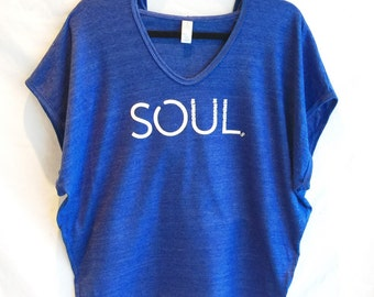"""SALE! Hoodie Poncho with """"SOUL"""" Graphic"""