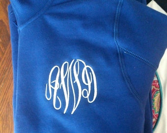 Quarter zip monogram pullover