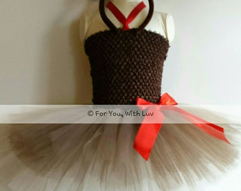 Reindeer Christmas Holiday tutu dress custom made up to size 12