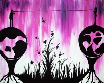 Les Deux Mondes: Reproduction Print Wall Decor Artwork