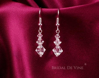 Sparkly Bridal Earrings made with CRYSTALLIZED™ - Swarovski Elements