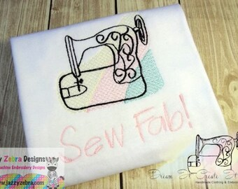 Sewing Machine Sketch Embroidery Design - sewing Sketch Embroidery Design