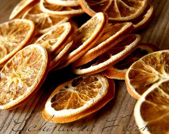 24 DRIED ORANGE SLICES - Primitive Gathering Wreaths Bowl Filler Tuck Garland Crafts Wedding Decor Farmhouse Floral