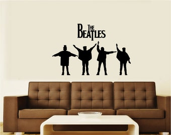 "The Beatles ""Help"" Silhouette Vinyl Wall Art Decal Sticker Graphic"