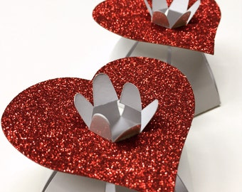 Red Favor Boxes Red Favor Box Heart Favors Heart Favor Box Heart Wedding Favors Red Wedding Favor