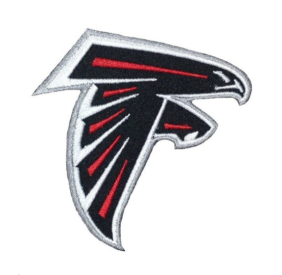 Atlanta falcons logo style embroidered iron patches by