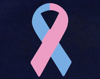 Large Pink & Blue Paper Ribbons (PRIB-01-16)