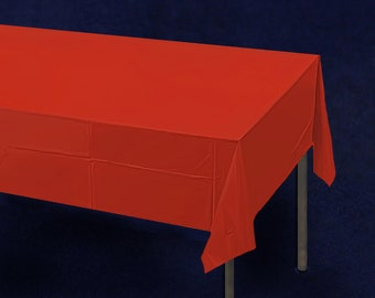 Red Plastic Tablecloth (PTC-6)