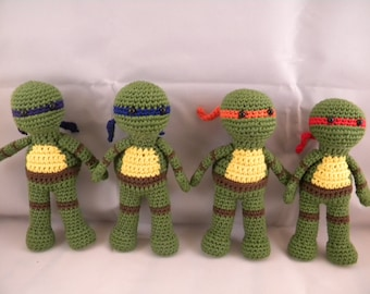 1 Teenage Mutant Ninja Turtles Amigurumi Doll Made to Order
