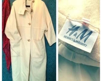 80's oversized wool coat S/M