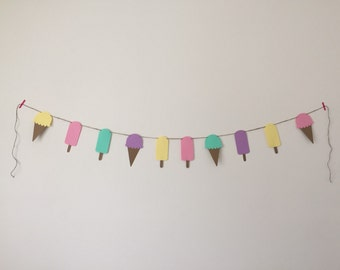 Ice Cream and Popsicle Banner - Perfect for Birthday Parties