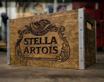 Stella Artois Personalized Beer Crate - bodeche x Lookwright