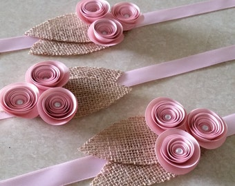 Baby Gender Reveal - Paper Flower Corsage or Boutonniere - It's a Girl! - For Gender Party, to Mail, or Shower - Grandparents' or Mom's Gift