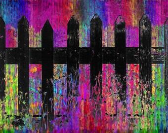 Black Fence 3 - Giclee Print