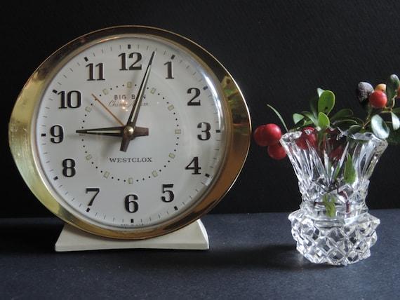 Vintage Westclox Big Ben Chime Wind Up Alarm Clock Mid