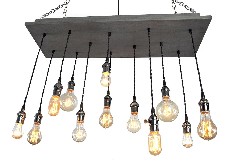 nostalgic edison bulb chandelier industrial chic. Black Bedroom Furniture Sets. Home Design Ideas
