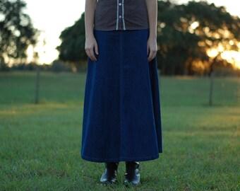Girls Dark Denim Custom Jean Skirt {Sizes 8, 10, 12, and 14.}
