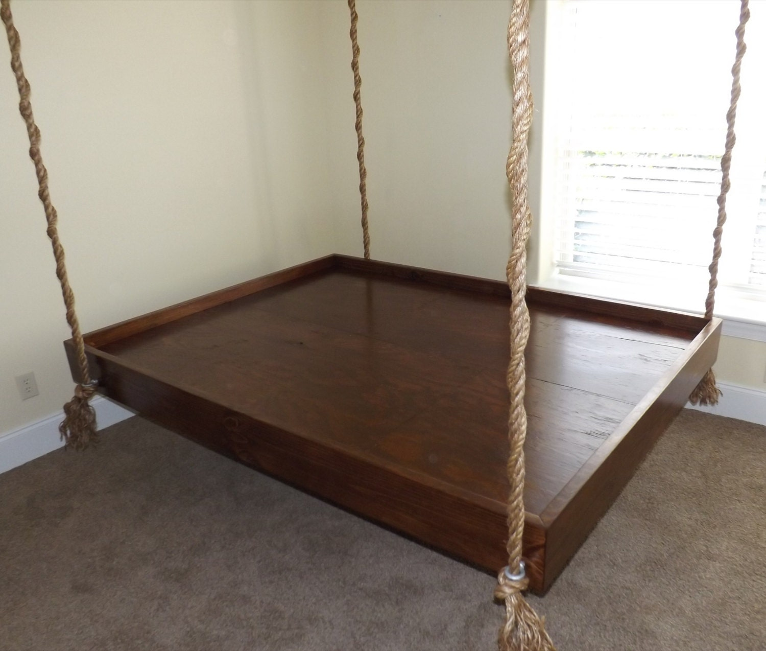 Hanging beds from ceiling for Round hanging porch bed