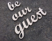 "Guest room sign ""be our guest""  home decor, wall art sign, kitchen decor, hotel, bar, restaurant sign, business sign"