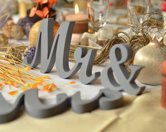 bling and sparkle Mr & Mrs Glitter - Wedding decoration wood sign  Mr and Mrs signs for sweetheart table