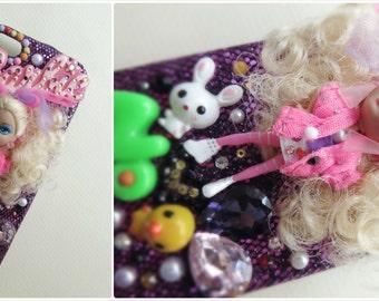 Cute Mini Barbie phone Case cover for iPhone 5/5s - Purple Super Star