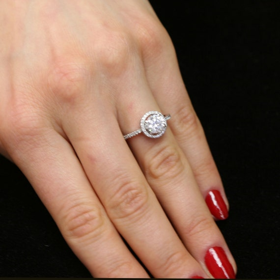 engagement ring floating halo 1 carat by